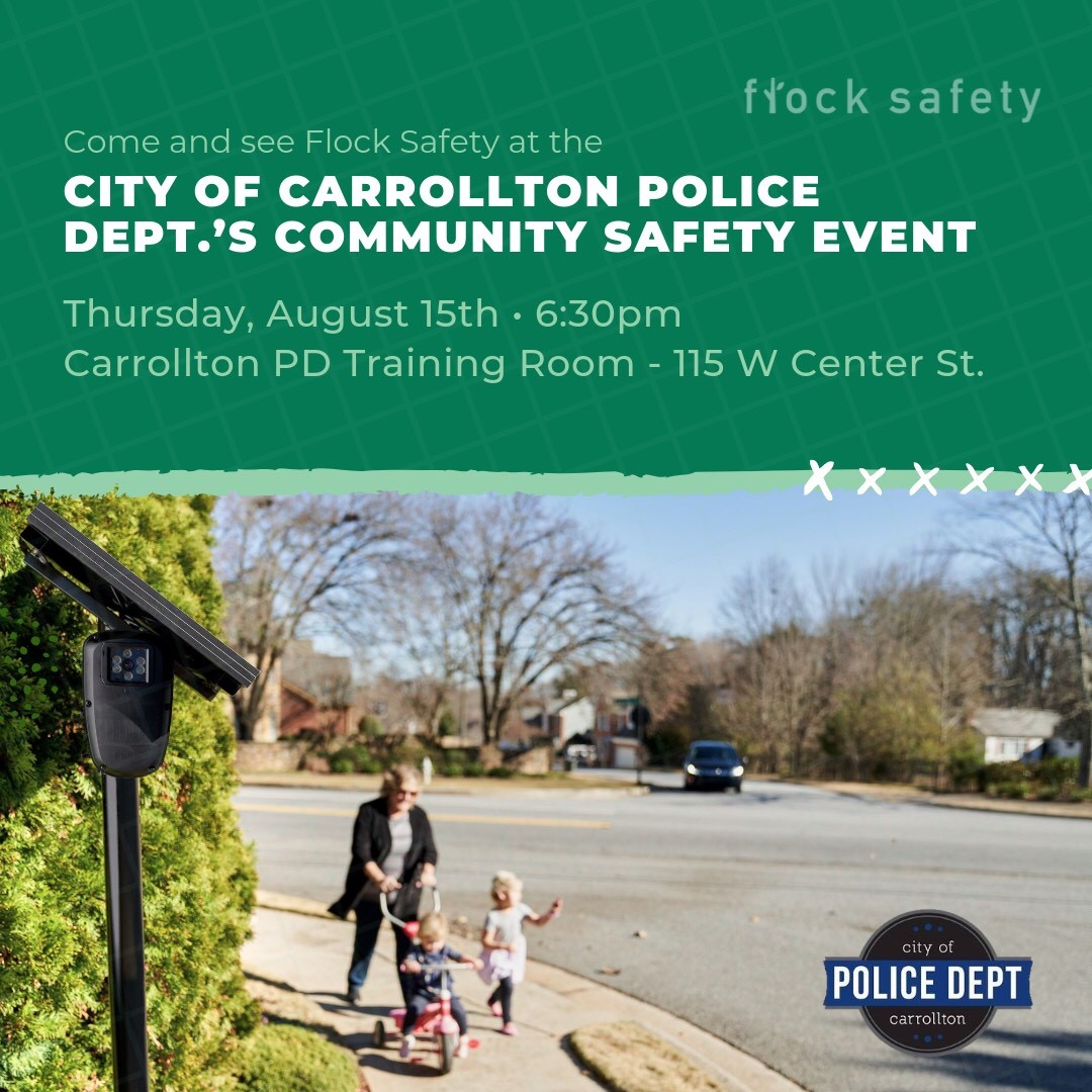 Flock Safety @ Carrollton Police Dept.'s Public Safety Event