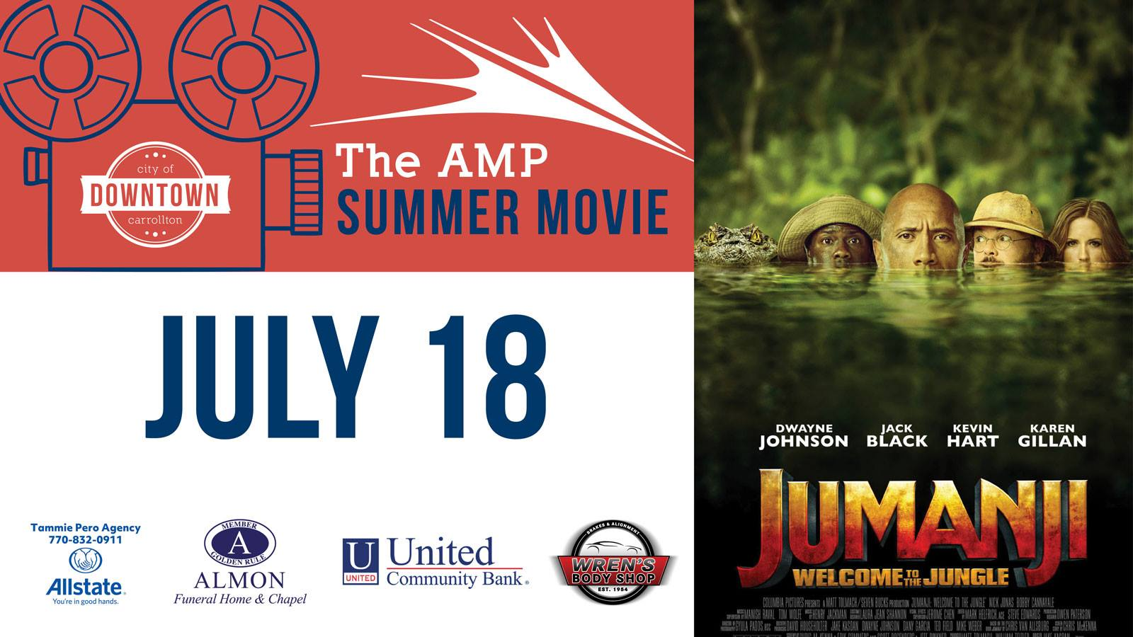 Amp Summer Movie Series: Jumanji Welcome to the Jungle (PG Version)