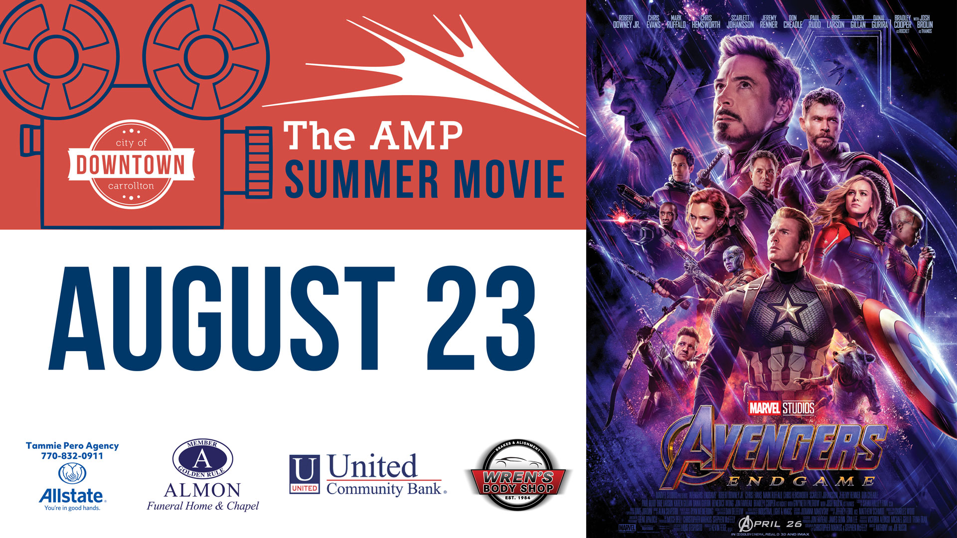 Amp Summer Movie Series: Avengers Endgame