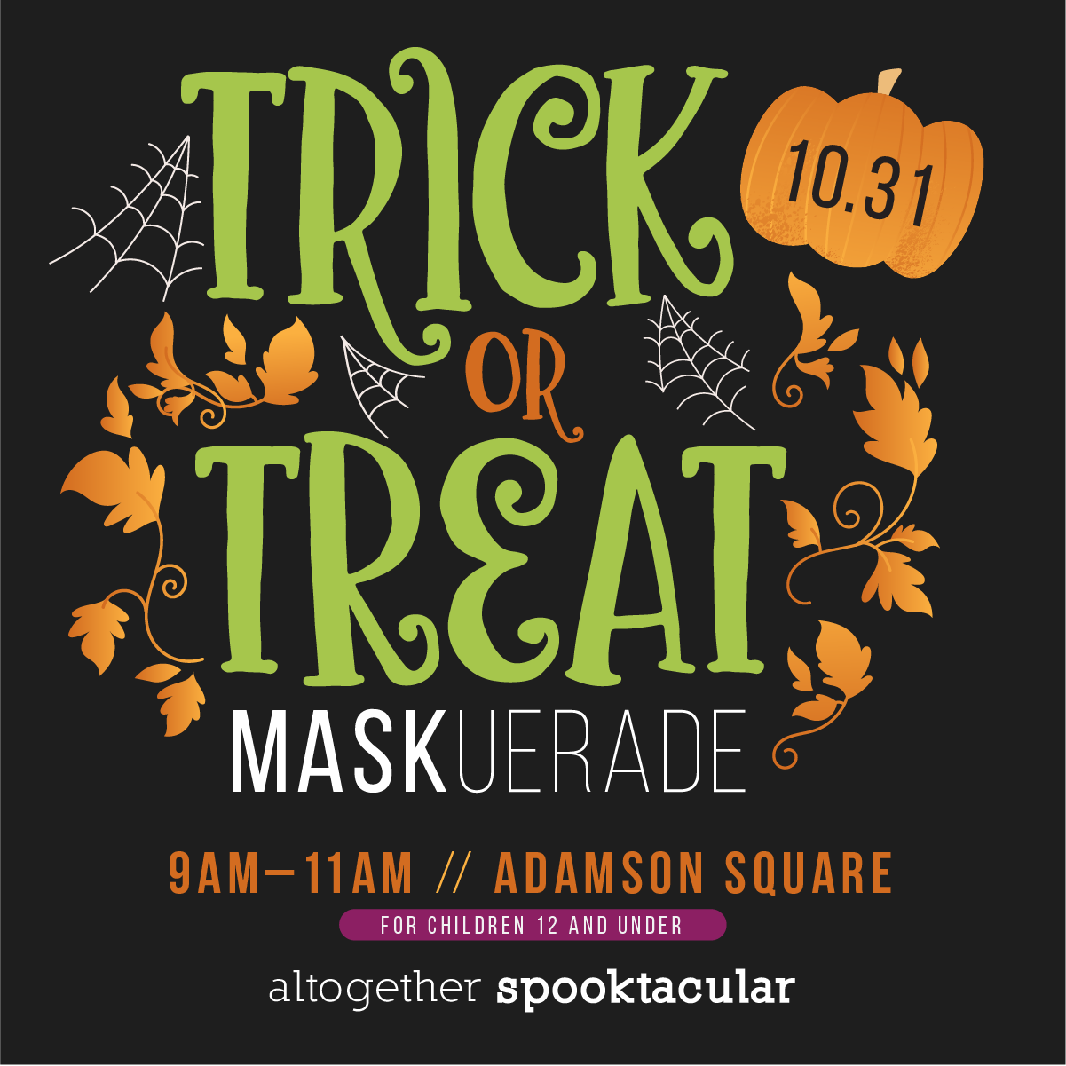 Trick-or-Treat 'Mask'uerade Downtown